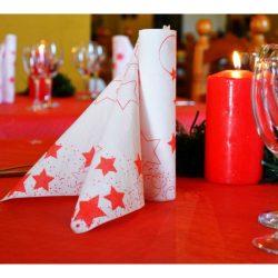 Mikropunto karácsonyi papírszalvéta Star fehér 40 x 40 cm 2 r