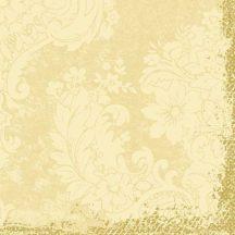 Duni textilhatású szalvéta Royal krém