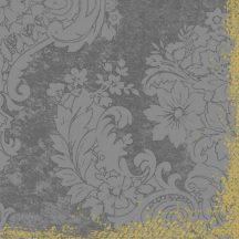 Duni textilhatású szalvéta Royal gránit szürke
