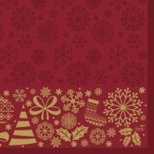 Dun Karácsonyi papírszalvéta Divine Time 33x33 cm 3 rétegű