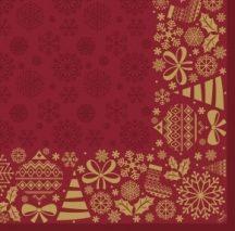 Dunisoft Karácsonyi textilhatású szalvéta Divine Time 40x40 cm