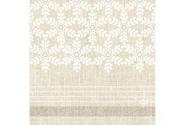 Duni Karácsonyi papírszalvéta Linen Snow 33x33 cm 3 rétegű