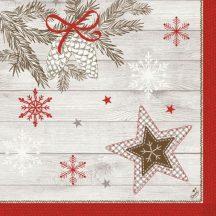 Duni Karácsonyi papírszalvéta Cozy Winter Klassik  40x40 cm 4 rétegű