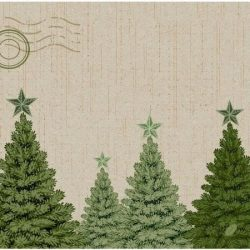 Dunisoft Karácsonyi textilhatású szalvéta Fir Forest 40x40 cm