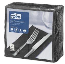 Tork Dinner Soft szalvéta fekete