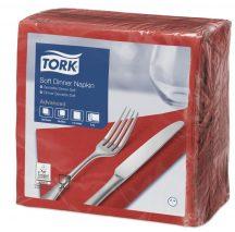 Tork Dinner Soft szalvéta piros