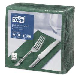 Tork Dinner Soft szalvéta sötétzöld