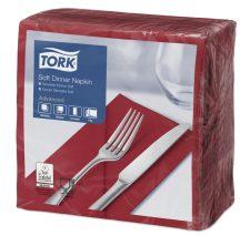 Tork Dinner Soft szalvéta bordó