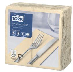 Tork Dinner Soft szalvéta krém