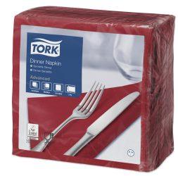 Tork Dinner szalvéta bordó