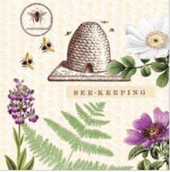 Mank textilhatású szalvéta Bee-Keeping