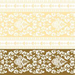 """Mank textilhatású szalvéta """"Pascal"""" arany / krém"""