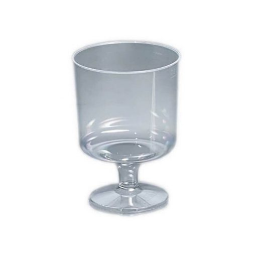 Eldobható pohár 200 ml víztiszta talpas