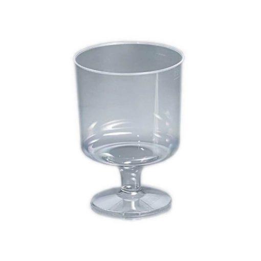 Műanyag pohár 2 dl víztiszta talpas