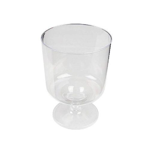 Műanyag pohár 20-40 ml víztiszta talpas pálinkás