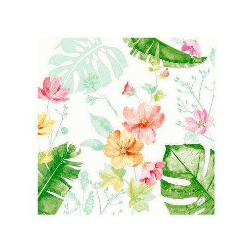 Dunisoft textilhatású szalvéta Tropical Garden 60 db/cs