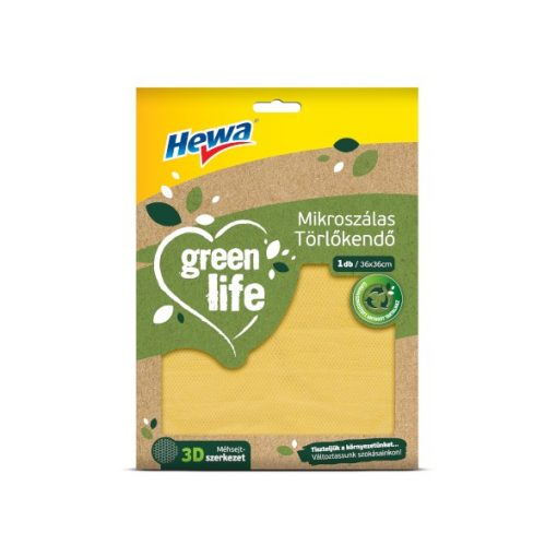 Hewa Green Life Bambusz mikrószálas törlőkendő