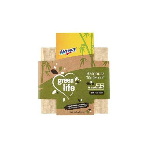 Hewa Green Life Bambusz törlőkendő, 3 db