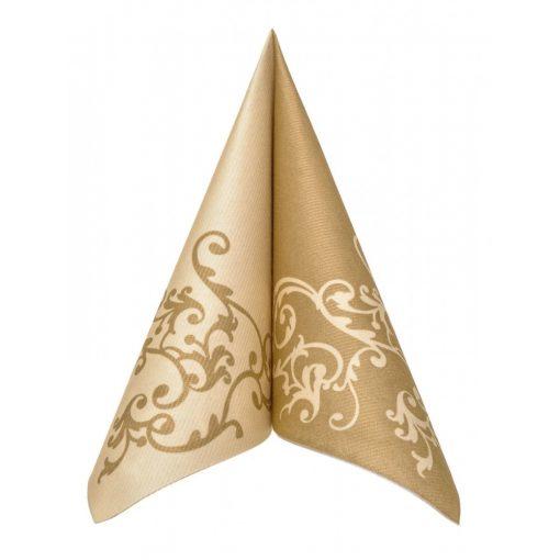 Mank textilhatású szalvéta Pomp arany/krém