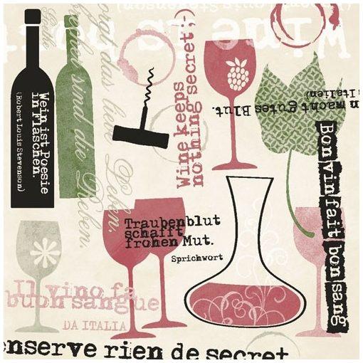 Mank textilhatású szalvéta Bon Vin