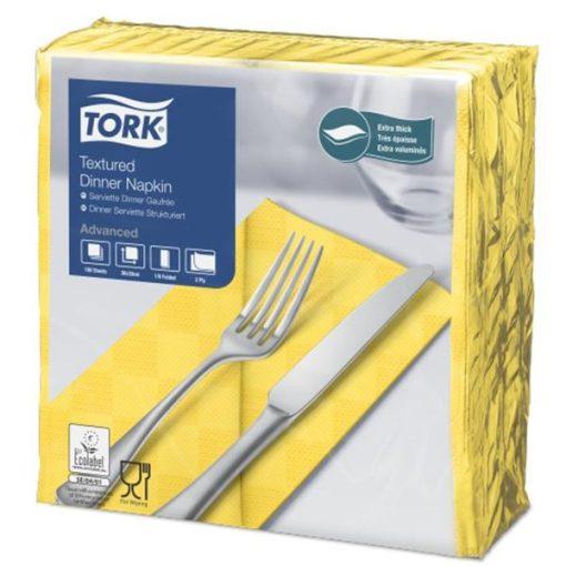 Tork Nexxstyle Dinner szalvéta sárga  1/8 - Karton